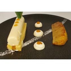Ananas rôti - mousse coco...