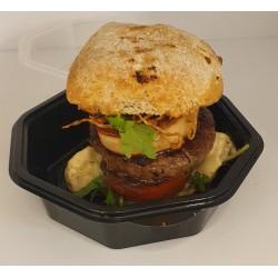 Burger de bison au foie gras